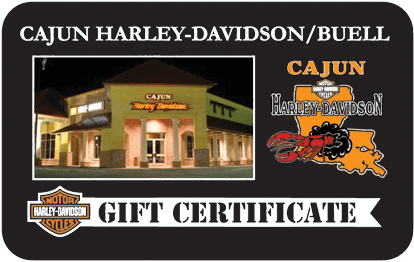 Cajun H-D Gift Card Graphic