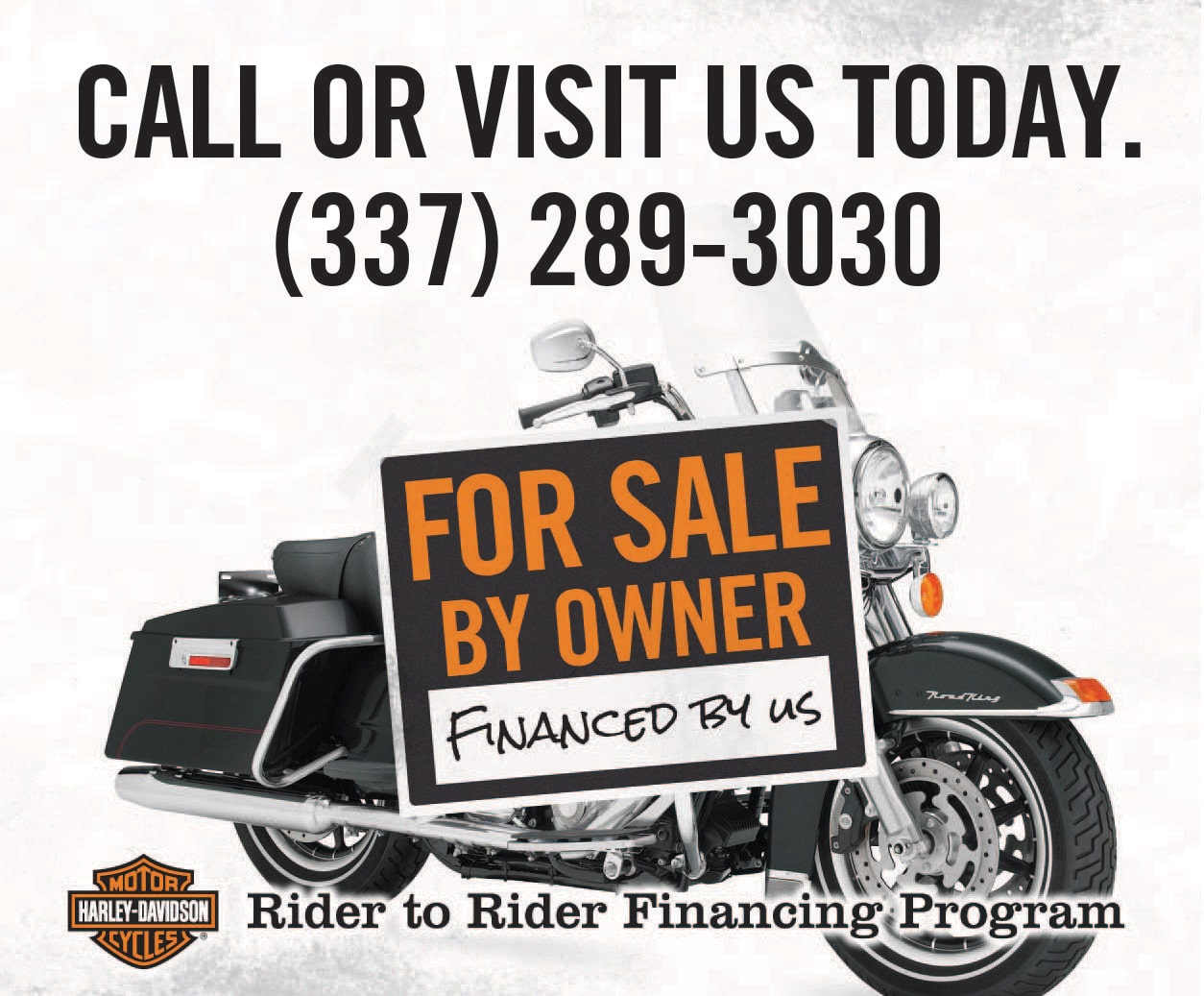 rider to rider finance program banner